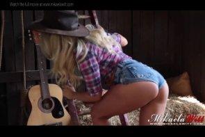 Mikaela Witt Cowgirl Barn Tease